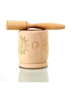 LSL Kitchen Wooden Garlic Press
