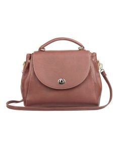 LSL Women Compact Leather Bag Dark Purple