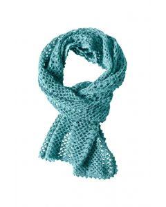 LSL Women Scarf Turquoise Knit
